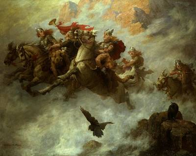 Valkyries Painting - Maud Ride Of The Valkyries by MotionAge Designs