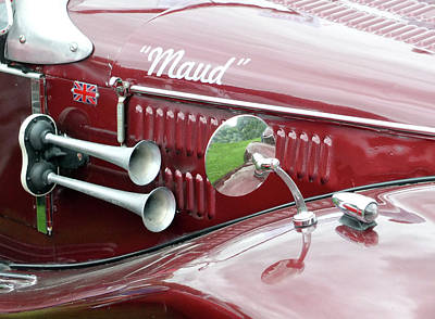 Wing Mirror Photograph - Maud - Vintage Car by Philip Openshaw