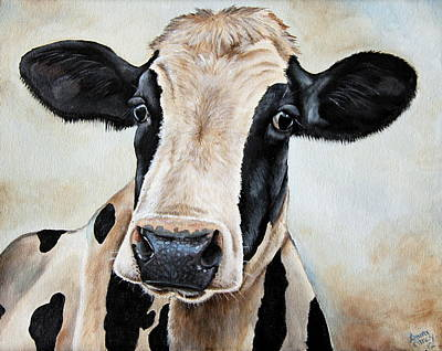Bull Painting - Maude by Laura Carey