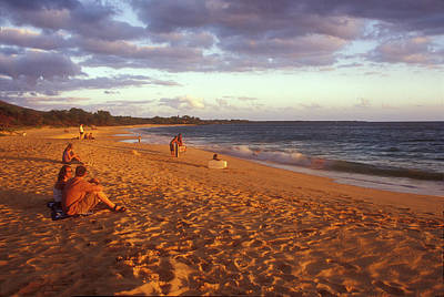 Photograph - Maui Beach In Evening by John Burk