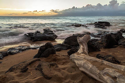 Photograph - Maui Beach Sunset by John Daly