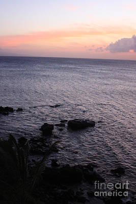 Photograph - Maui Coast With Lava Rocks At Sunset by Robin Maria Pedrero