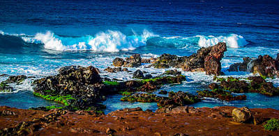 Maui Hawaii Breaking Surf  Art Print