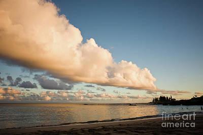 Maui Hawaii Sunset Stunning Clouds Art Print by Denis Dore
