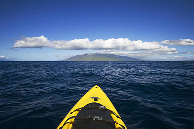 Kayaker Photograph - Maui, Kayaker by Ron Dahlquist - Printscapes