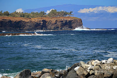 Photograph - Maui Looms In The Distance by Mary Haber