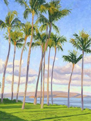Painting - Maui Palms by Steve Simon