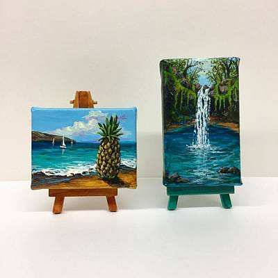Painting - Maui Pineapple And Twin Falls by Darice Machel McGuire
