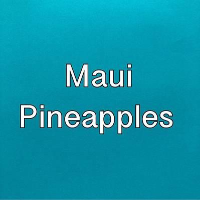 Painting - Maui Pineapples Logo by Darice Machel McGuire
