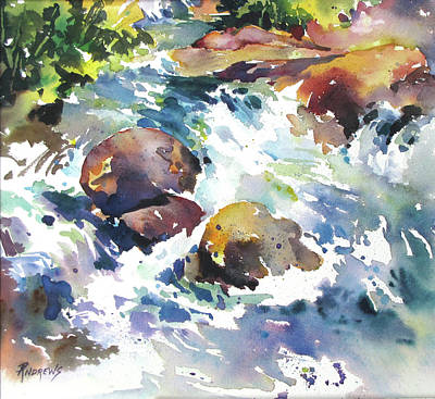 Painting - Maui Rapids by Rae Andrews