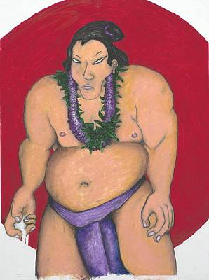 Maui Sumo Print by Billy Knows