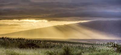 Photograph - Maui Sunset God Rays by Dustin K Ryan