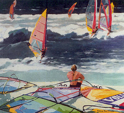 Maui Surf Art Print