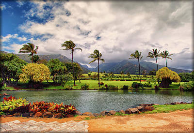Photograph - Maui Tropical Plantation Lagoon by Linda Tiepelman