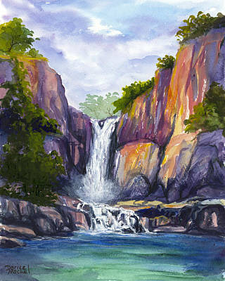 Painting - Maui Waterfall by Darice Machel McGuire