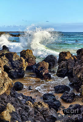 Photograph - Maui Wave Crash by Eddie Yerkish