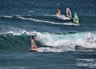 Photograph - Maui Wind Surfers by Shirley Mangini