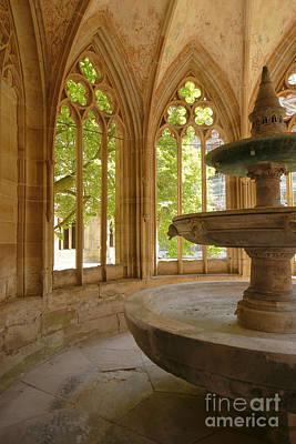 Photograph - Maulbronn Monastery Fountain Court by Rudi Prott