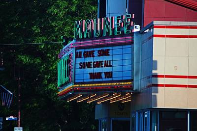 Photograph - Maumee Movie Theater I by Michiale Schneider