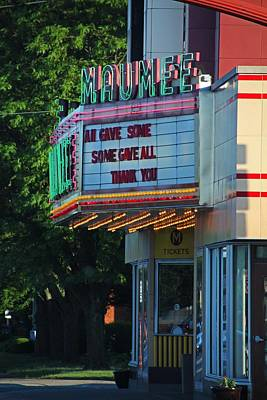 Photograph - Maumee Movie Theater II by Michiale Schneider