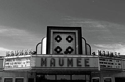 Photograph - Maumee Theater Marquee II by Michiale Schneider