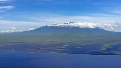 Photograph - Mauna Kea From The Air by Pamela Walton