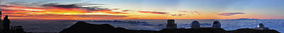 Photograph - Mauna Kea Observatory Sunset Panorama by Jason Chu