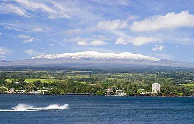Hilo Town Photograph - Mauna Kea Volcano Hawaii Spring Snow 2014 by Joyce Taniguchi