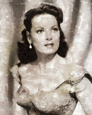 Maureen Painting - Maureen O'hara, Hollywood Legend By Mary Bassett by Mary Bassett