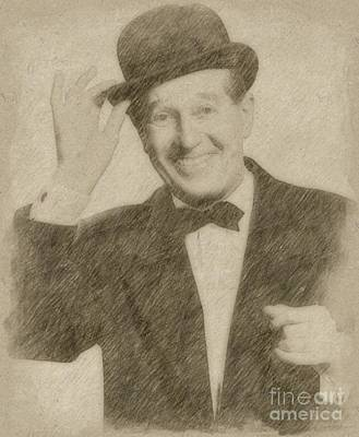 Fantasy Drawings - Maurice Chevalier, Actor by Frank Falcon