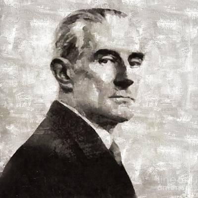 Maurice Ravel, Composer Art Print by Mary Bassett