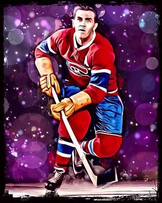 Maurice Richard Digital Art - Maurice Richard Montreal Canadiens by Scott Wallace