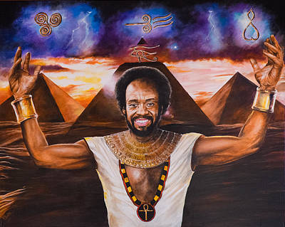 Painting - Maurice White by Pascal Martos