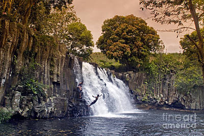Photograph - Mauritius Rochester Falls by Juergen Held