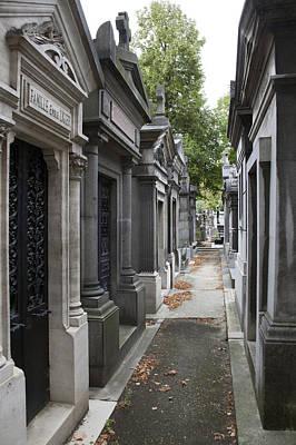 Pere La Chaise Photograph - Mausolea by Michael Riley