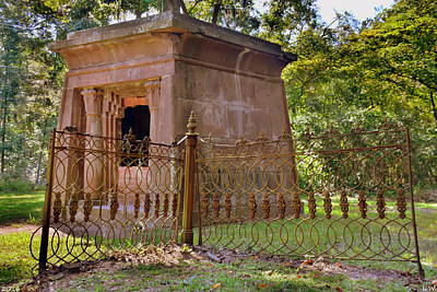 Photograph - Mausoleum At Chapel Of Ease St. Helena Island Beaufort Sc by Lisa Wooten