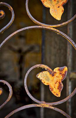 Photograph - Mausoleum Door Details #2 - Buenos Aires by Stuart Litoff