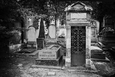 Pere La Chaise Photograph - Mausoleum by Michael Riley