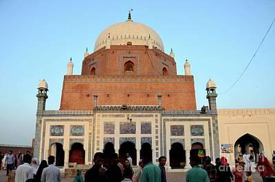 Photograph - Mausoleum Shrine Tomb Of Sufi Saint Sheikh Bahauddin Zakariya Multan Pakistan by Imran Ahmed