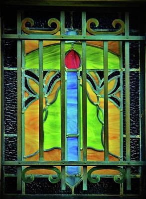 Photograph - Mausoleum Stained Glass by Cynthia Guinn