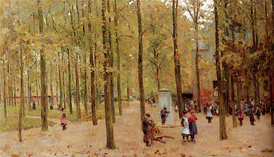 Anton Digital Art - Mauve Anton The Brink In Laren With Children Playing by Anton Mauve