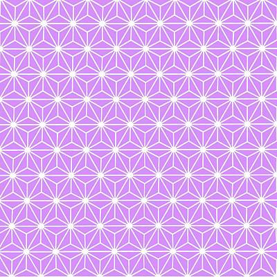 Digital Art - Mauve Geometric Flowers And Florals Isosceles Triangle  by Tracey Harrington-Simpson
