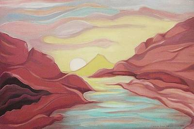 Mauve Hills Art Print by Suzanne  Marie Leclair