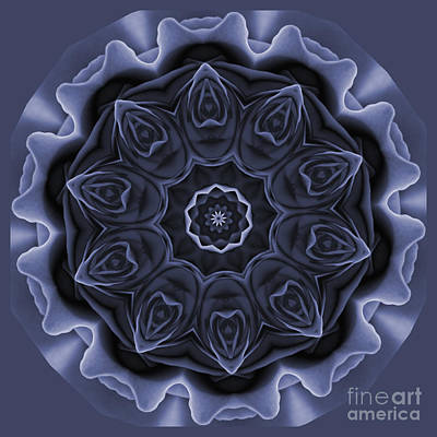 Mauve Rose Mandala Art Print