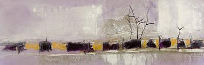 Principle Painting - Mauve Trees by Leah Hicks