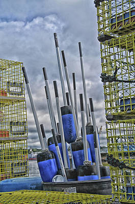 Photograph - Mavrikis' Lobster Buoys by Mike Martin