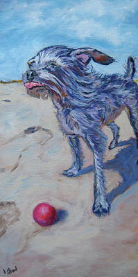 Chihuahua Painting - Max Against The Wind by Kellie Straw