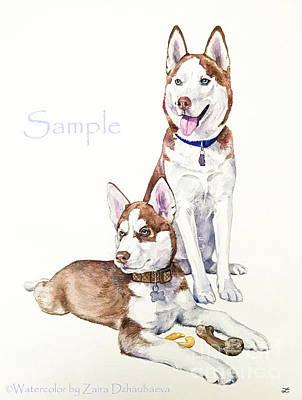 Painting - Max And Sam by Zaira Dzhaubaeva