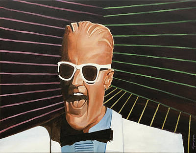 Painting - Max Headroom by Michael Morgan
