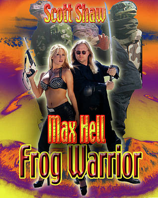 Photograph - Max Hell Frog Warrior by The Scott Shaw Poster Gallery